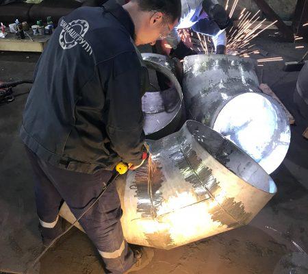 Изготовление отводов секционных сварных